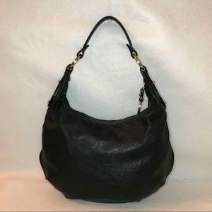 Authentic FENDI Black Leather Hobo Bag